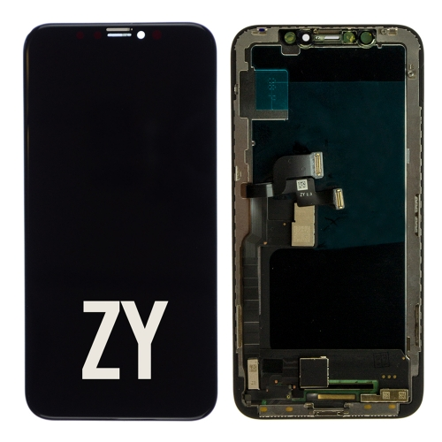 For iPhone X LCD Screen and Digitizer Assembly With Frame Replacement - Black - ZY Hard OLED