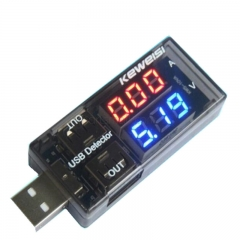 Dual USB Detector Current Voltage Charging Detector Tester Battery Voltmeter Ammeter Charger Doctor
