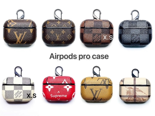 For AirPods Pro Luxury Leather Case With Hook