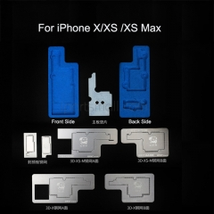 MECHANIC 3D BGA Reballing Stencil Kit For iPhone X XS XR XS MAX Intermediate Layer Can be Planted Platform Tin Template Welding