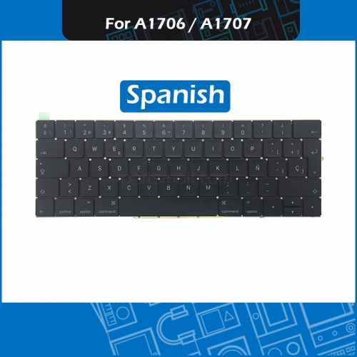 "For Macbook Pro Retina 13"" 15"" A1706 A1707 Spain Keyboard Replacement 2016 2017 Year Laptop A1706 A1707 ES Spanish Keyboard"