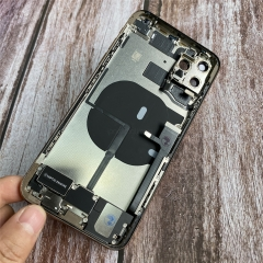 For iPhone 11 Pro Max Rear Back Cover Battery Housing Frame Assembly With Small Parts Original Pulled