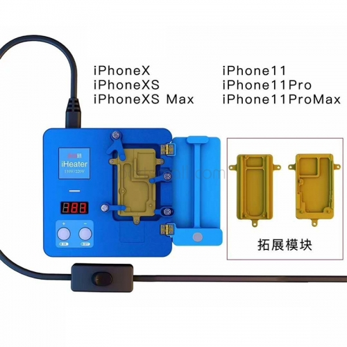 JC iHeater Intelligent Desoldering Station Digital Thermostat Heating Plate for iPhone 11 Pro MAX X XS MAX Motherboard Fixture