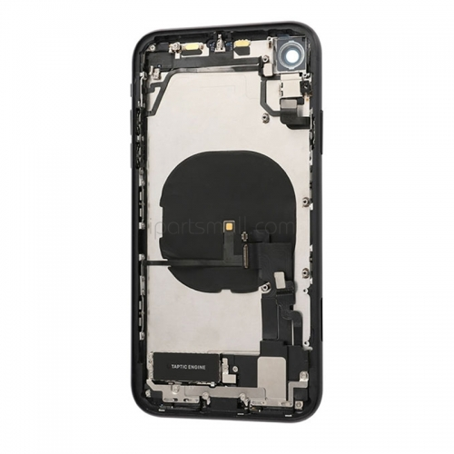 For iPhone XR Rear Back Cover Battery Housing Frame Assembly With Small Parts High Quality