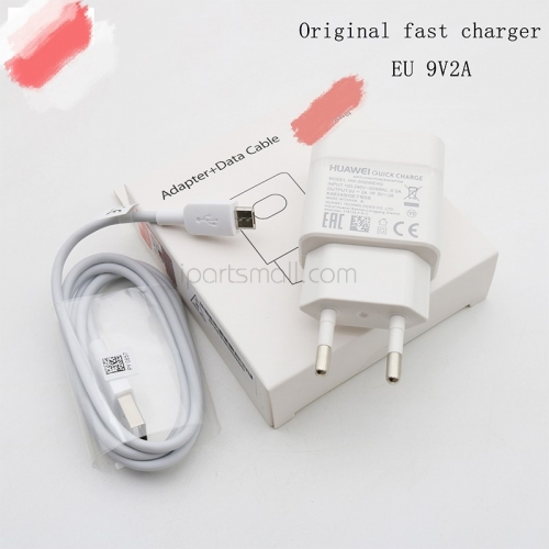 New Original For Huawei EU Fast Charger Wall Adapter With Micro USB Cable
