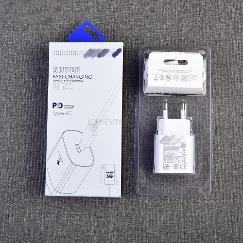 New Original For Samsung Note 10 Plus Super Fast Charger 25W Travel PD Charge Adapter