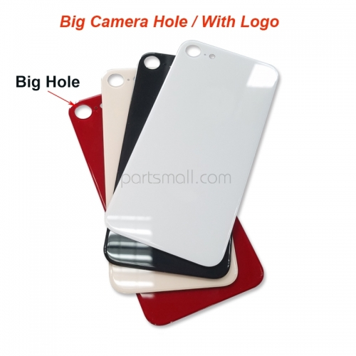 For iPhone 8 Back Cover Glass Big Hole Version