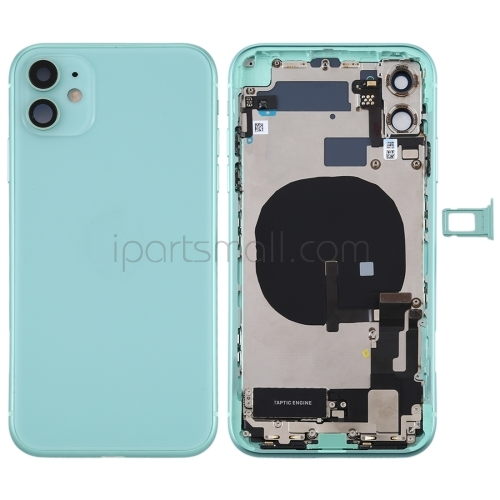 For iPhone 11 Rear Back Cover Battery Housing Frame Assembly With Small Parts AfterMarket