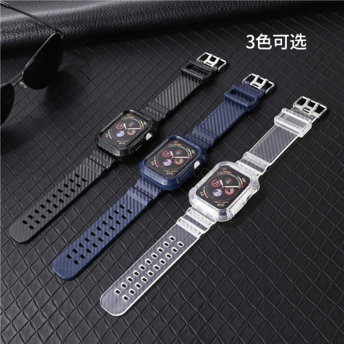 For Apple Watch TPU Plastic Carbon Fiber Band Straps