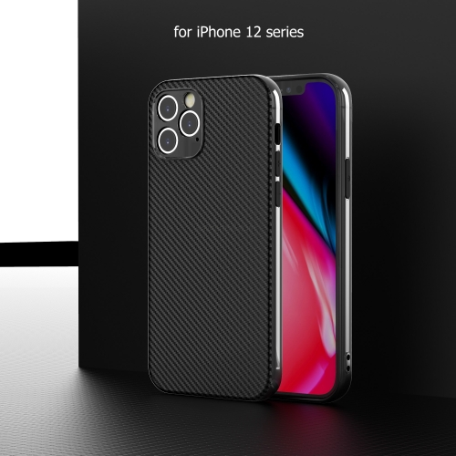 For iPhone 12 11 X XS Max 7 8 Plus Carbon Fiber Case Plastic Cover