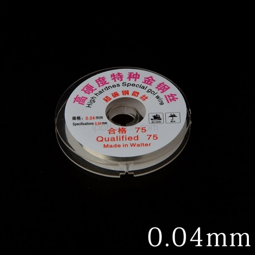 0.04MM LCD Screen Separation High Hardness Special Gold Wire Cutting Line