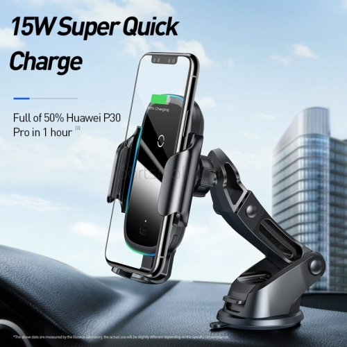 15W Wireless Car Charger Air Vent Mount Car Phone Holder Intelligent Infrared Fast Wireless Charging Charger