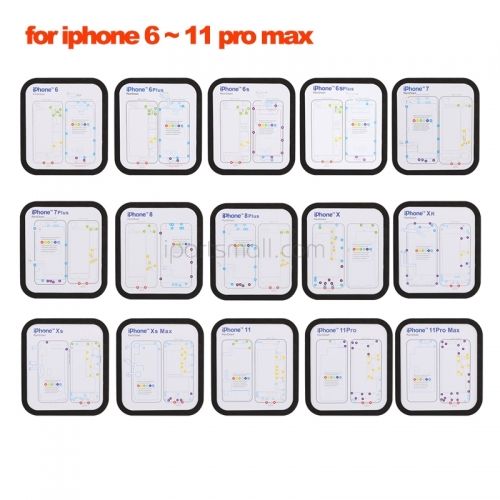 15 in 1 Magnetic Screw Keeper Part Chart Mat For iPhone 6 6S 6P 7 7P 8 8P X Xs XR Xs Max 11 Pro Max