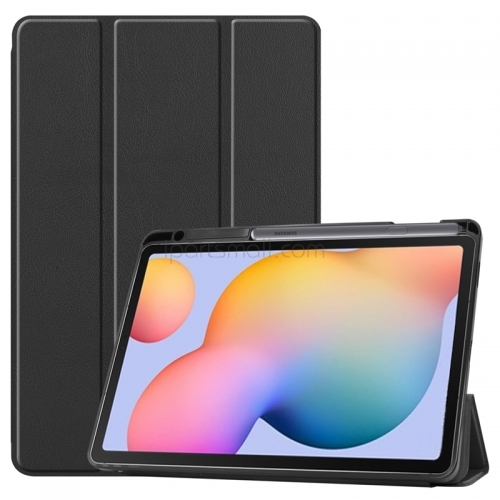 For Samsung Galaxy Tab S6 Lite 10.4 Magnet Flip Cover Tablet Shell Protective Case for SM-P610 SM-P615 With Pen Holder