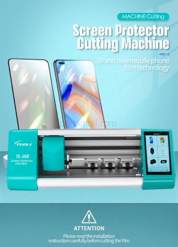 TUOLI TL168 TL-168 Auto Screen Film Protector Cutting Machine Mobile Phone Tablet Front Back Cover Glass Protecter Flexible Soft Film Cutter